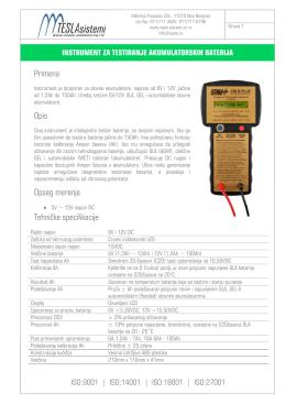Instrument za testiranje akumulatorskih baterija