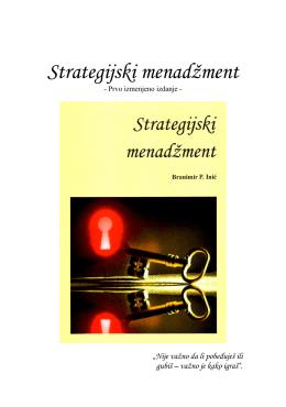 Strategijski menadžment - Prof. Dr Branimir Inic