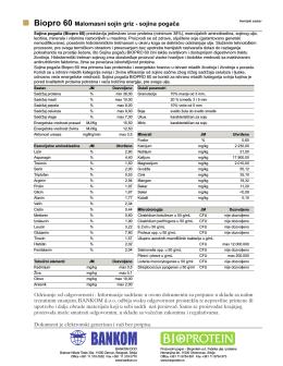 Biopro 60 Malomasni sojin griz - sojina pogača