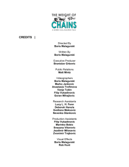 CREDITS | - The Weight Of Chains