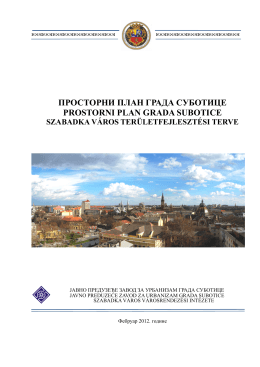 PPG Subotica tekst - JP Zavod za Urbanizam grada subotice