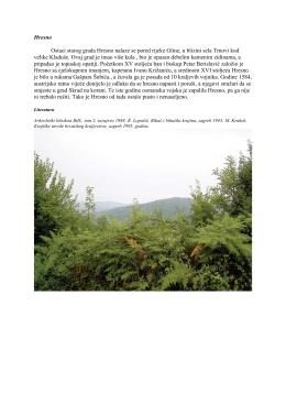 Hresno Ostaci starog grada Hresno nalaze se pored rijeke Gline, u