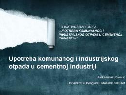 Употреба комуналног и индустријског отпада у цементној
