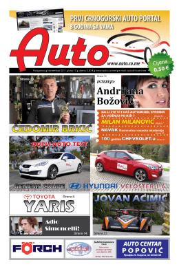 Auto časopis: novembar 2011