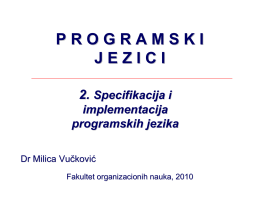 Leksička specifikacija - PJP FON