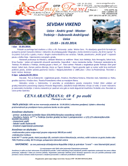 SEVDAH VIKEND - Amigo Travel