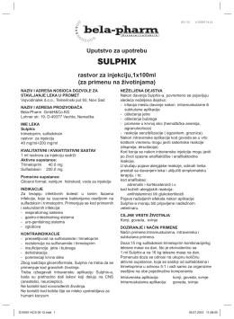 SULPHIX - Vojvodina lek