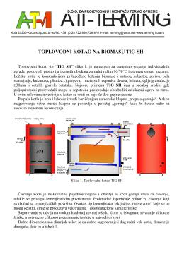 toplovodni kotao na biomasu tig-sh