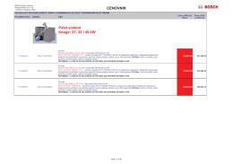 CENOVNIK Pelet sistemi Snage: 27, 32 i 45 kW