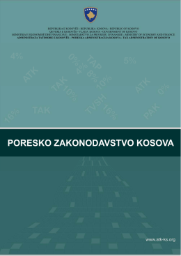 Knjiga – Poresko Zakonodavstvo Kosova