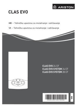Tehničko uputstva za instaliranje i održavanje CLAS EVO CF