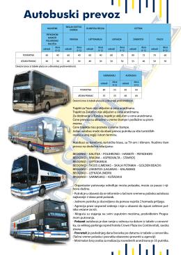 Cenovnik autobuski prevoz – Grčka 2014