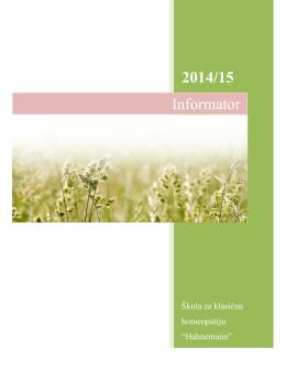 Informator za studente - Udruženje Homeopata Hahnemann