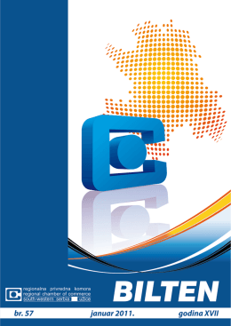 Broj 57 - Januar 2011 - regionalna privredna komora uzice