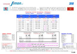 Donnerstag / Cetvrtak : Luxembourg –> Montenegro