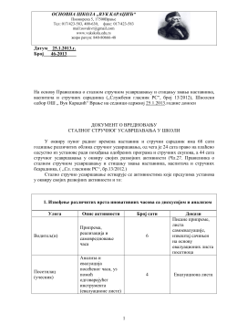 "ОСНОВНА ШКОЛА ""ВУК КАРАЏИЋ"""