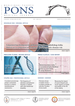 Gojaznost kao komponenta globalnog kardiometabolickog