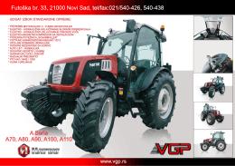 tehničke karakteristike ratarskog traktora sa kabinom euro 0
