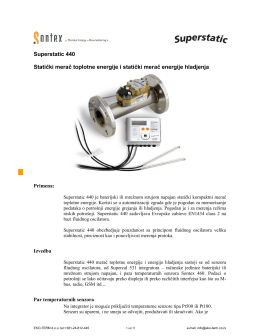 Superstatic 440 Statički merač toplotne energije i statički