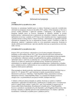 Prvi kvartalni izveštaj od 01. januara do 30. novembar 2011. god.
