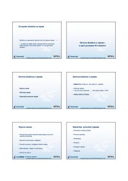 Evropske direktive za otpad Okvirna direktiva o otpadu i s njom