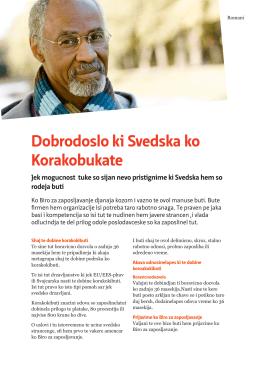 Informationsblad om instegsjobb för nyanlända arbetssökande på