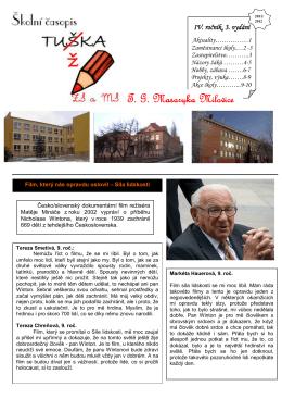 Tužka 2 11-12 - Základní škola TG Masaryka Milovice