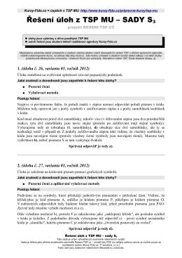Řešení úloh z TSP MU – SADY S3 - Kurzy
