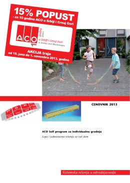 ACO Self cenovnik 2012