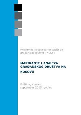 mapiranje i analiza građanskog društva na kosovu