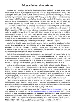 Jak na rodokmen s internetem (PDF) - Petr Pexa