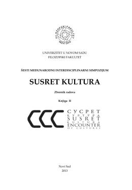 SUSRET KULTURA - Hrvatska znanstvena bibliografija