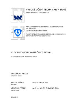 Diplomová práce - Vysoké učení technické v Brně