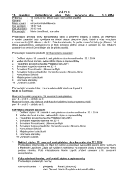 Usnesení z 5.3.2014