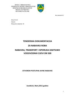 Tenderska dokumentacija - otvoreni postupak