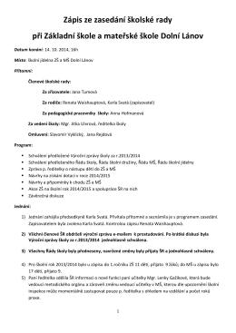 Zápis ze zasedání ŠR 14_10_2014