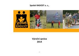 výroční zpráva Spolek 2014