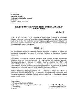 Grahovo - Opština ROŽAJE