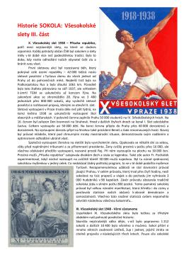 Všesokolské slety 1938 a 1948