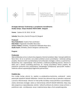 Fundraising i lobiranje_Studija slucaja NOVA ISKRA_Internest