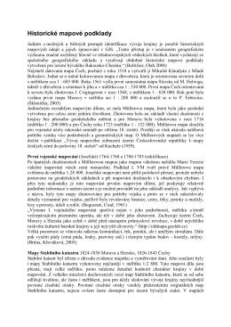 Historické mapové podklady - Projekty - FŽP