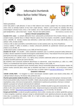 Obecní zpravodaj - III/2013