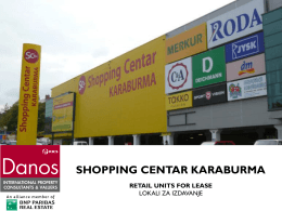 shopping centar karaburma retail units for lease