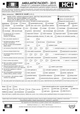 Dotazník - ambulance - Nemocnice s poliklinikou Kadaň