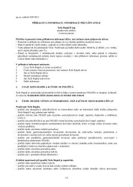 Příbalová informace (Vlastnosti a použití)