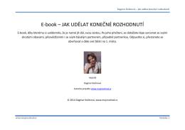 Dagmar Kožinová – Jak udělat konečné rozhodnutí