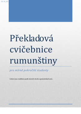 Překladová cvičebnice rumunštiny