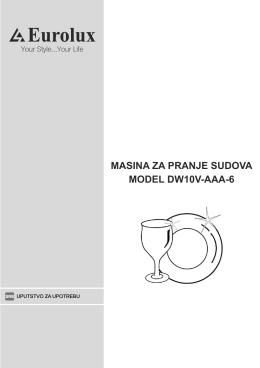 MASINA ZA PRANJE SUDOVA MODEL DW10V-AAA-6