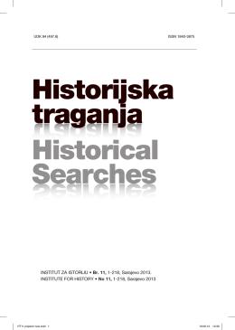 Historijska traganja - Institut za istoriju Sarajevo