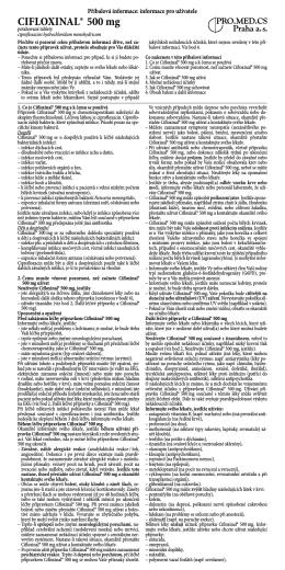 CIFLOXINAL® 500 mg